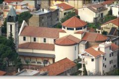 Marcellina Chiesa Cristo Re vista dall'alto